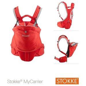 EUC Red Stokke MyCarrier 3 in 1